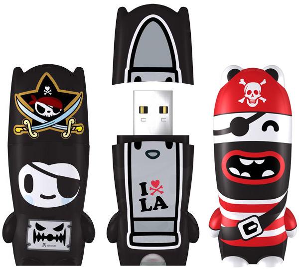 Mimobot Pirate USB Flash Drives