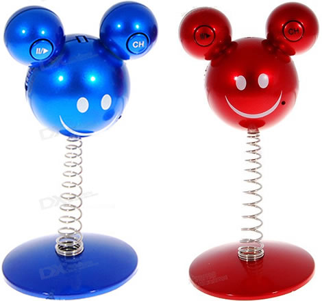 Mickey Mouse MP3 Player with FM Car Transmitter