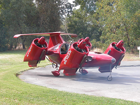 Moller M400 Skycar Takeoff