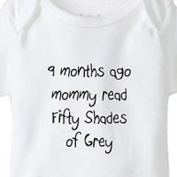 9 Months Ago Mommy Read Fifty Shades of Grey Baby Onesie