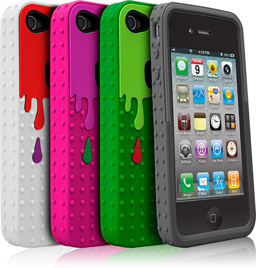 pink and white iphone case. Case-Mate Monsta iPhone 4