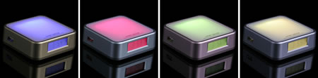 USB Hub with Clock and Mood Light