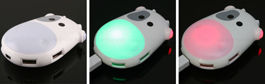 Illuminating Cow USB Hubs