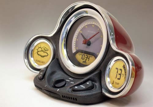 Atomic Motor Clock with Weather Forecaster