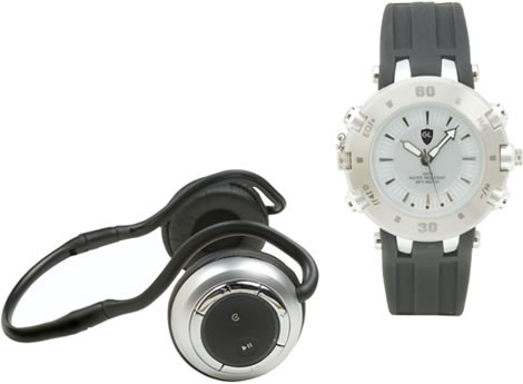MP3 Watch with Wireless Bluetooth Headset