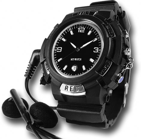 MP3 Watch with FM Transmitter