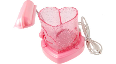 Heart-Shaped USB Speaker, LED Lamp & Pen Holder