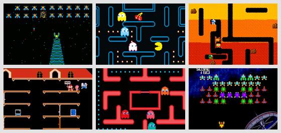 Pac-man Ms. Pacman Dig-Dug Galaga