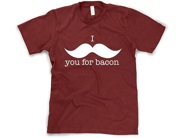 """I Mustache You For Bacon"" T-Shirt"