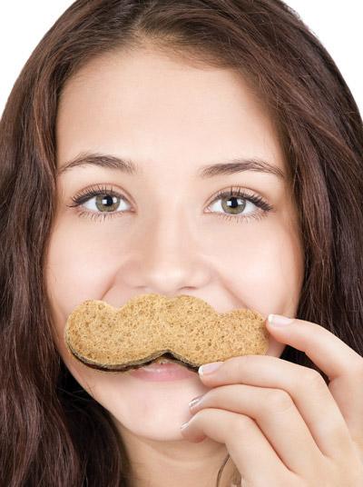 mustache crust cutter