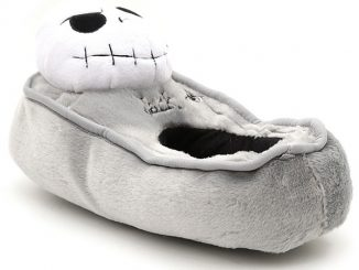 Nightmare Before Christmas Jack Tombstone Plush Slippers