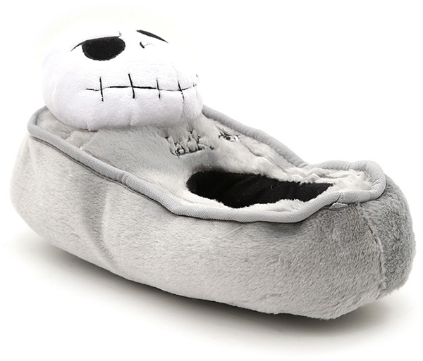 nightmare before christmas jack tombstone plush slippers