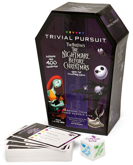 nightmare before christmas trivial pursuit - The Nightmare Before Christmas Games