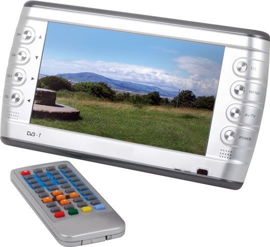 Portable 7-Inch Widescreen LCD TV from Nikkai