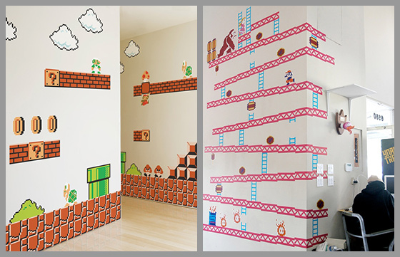Nintendo Donkey Kong & Super Mario Bros Wall Graphics