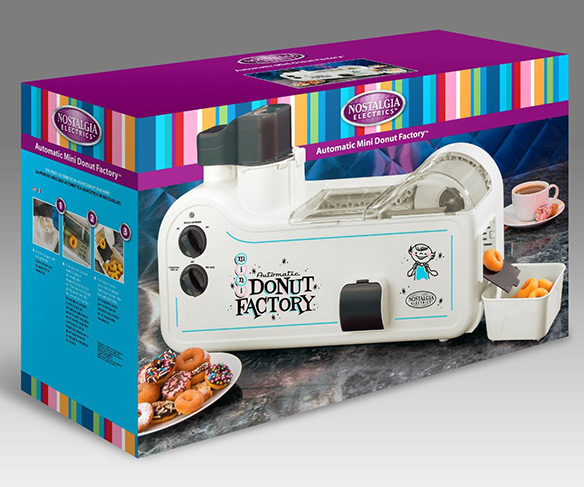 Nostalgia Electrics MDF-200 Automatic Mini Donut Factory
