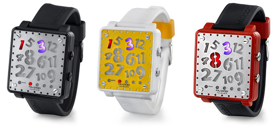 Nu Pop Crazy Hour Watches