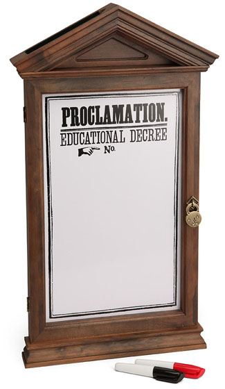 officially licensed harry potter proclamation board