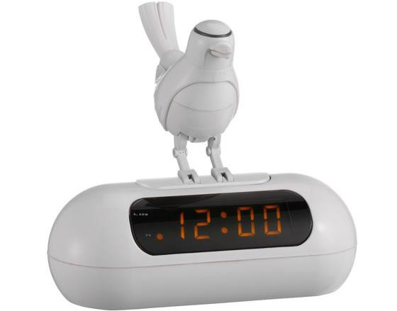LED Alarm Clock with Animated Bird