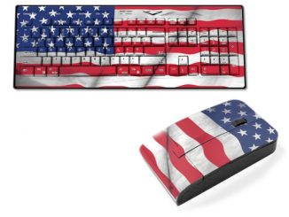 Old Glory USA Flag Wireless Keyboard and Mouse