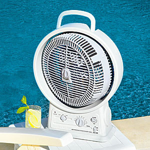 Outdoor Rechargeable Fan with AM/FM Radio