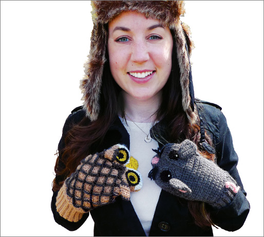 Owl Vs. Mouse Mittens