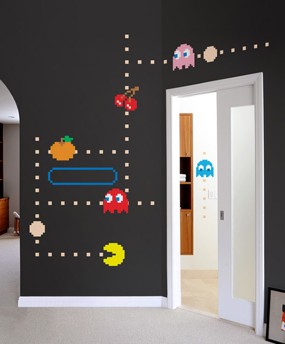 Blik pac man wall decals for Man u bedroom accessories