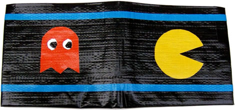 Pac-Man Duct Tape Wallet
