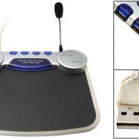 Mousepad with Speakers, Mic and USB Hub