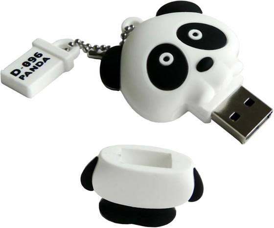 Solid Alliance Panda Skull USB Drive