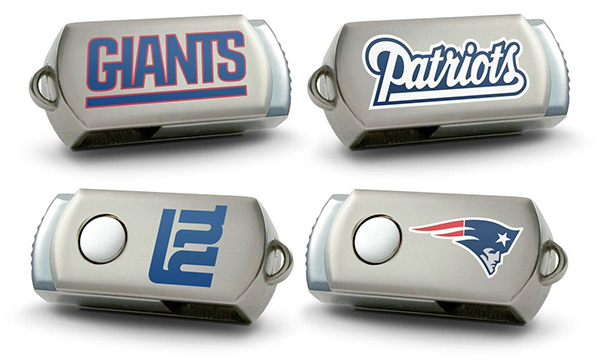 Patriots, Giants NFL USB Flash Drives