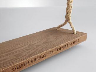 personalized tree swing