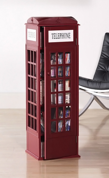 Phone Booth Media Cabinet
