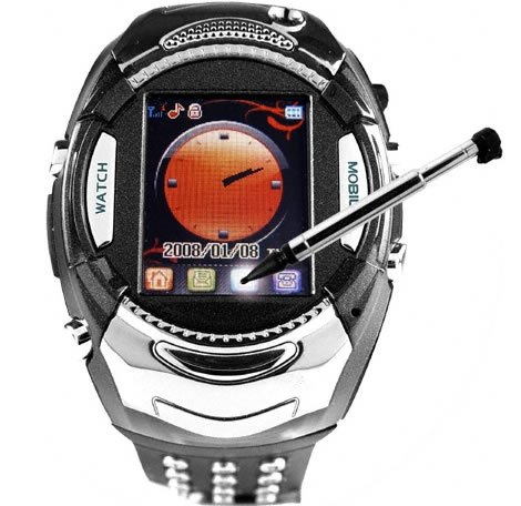 Mobile Phone Watch with Backlit Keypad Strap