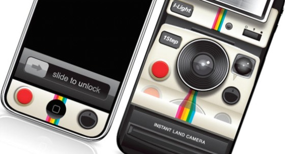 polaroid camera for iphone iphone polaroid instant skin geekalerts 15878