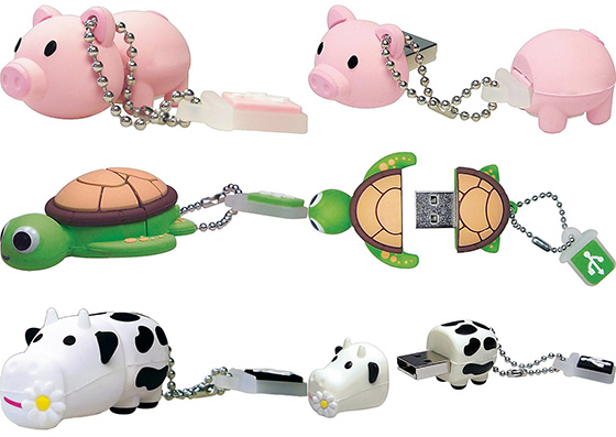 Pig Turtle Cow USB Flash Drives