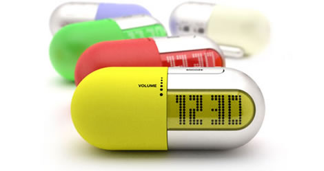 Pill-shaped Radio Clock