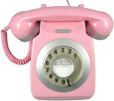 Pink and Silver Designer Telephone
