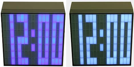 Pixel Saturn LED Clocks