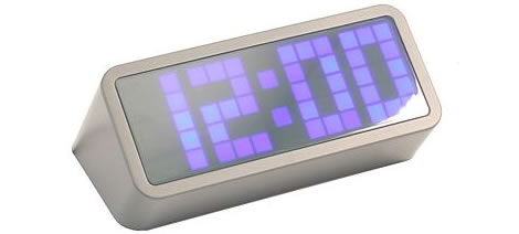 Pixel Clock Wedge Blue