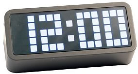 Pixel Clock Wedge White