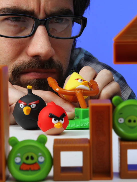 Playing Angry Birds Board Game