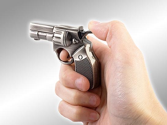 Police Revolver Gun Flash Drive