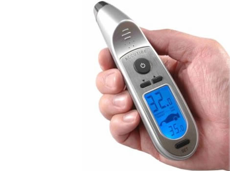 Programmable Digital Tire Pressure Gauge with Flashlight