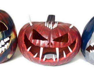 Glow-in-the-Dark Pumpkin Teeth
