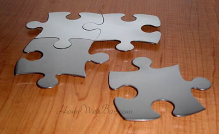 Stainless Steel Puzzle Coasters