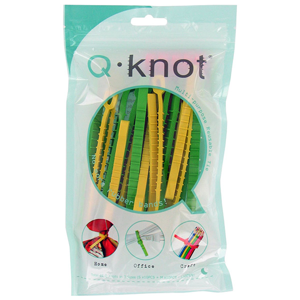 Q Knot Multi-Purpose Reusable Ties