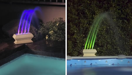 AquaGlow Rainbow Fountain