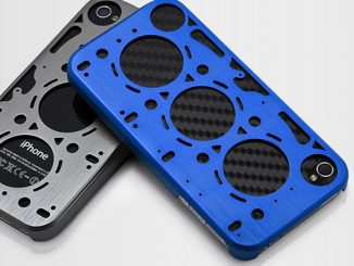 Rally Blue Brushed Aluminum Gasket iPhone 4 Case