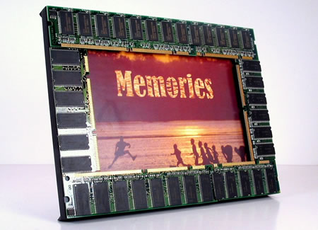 Computer Memories Photo Frame